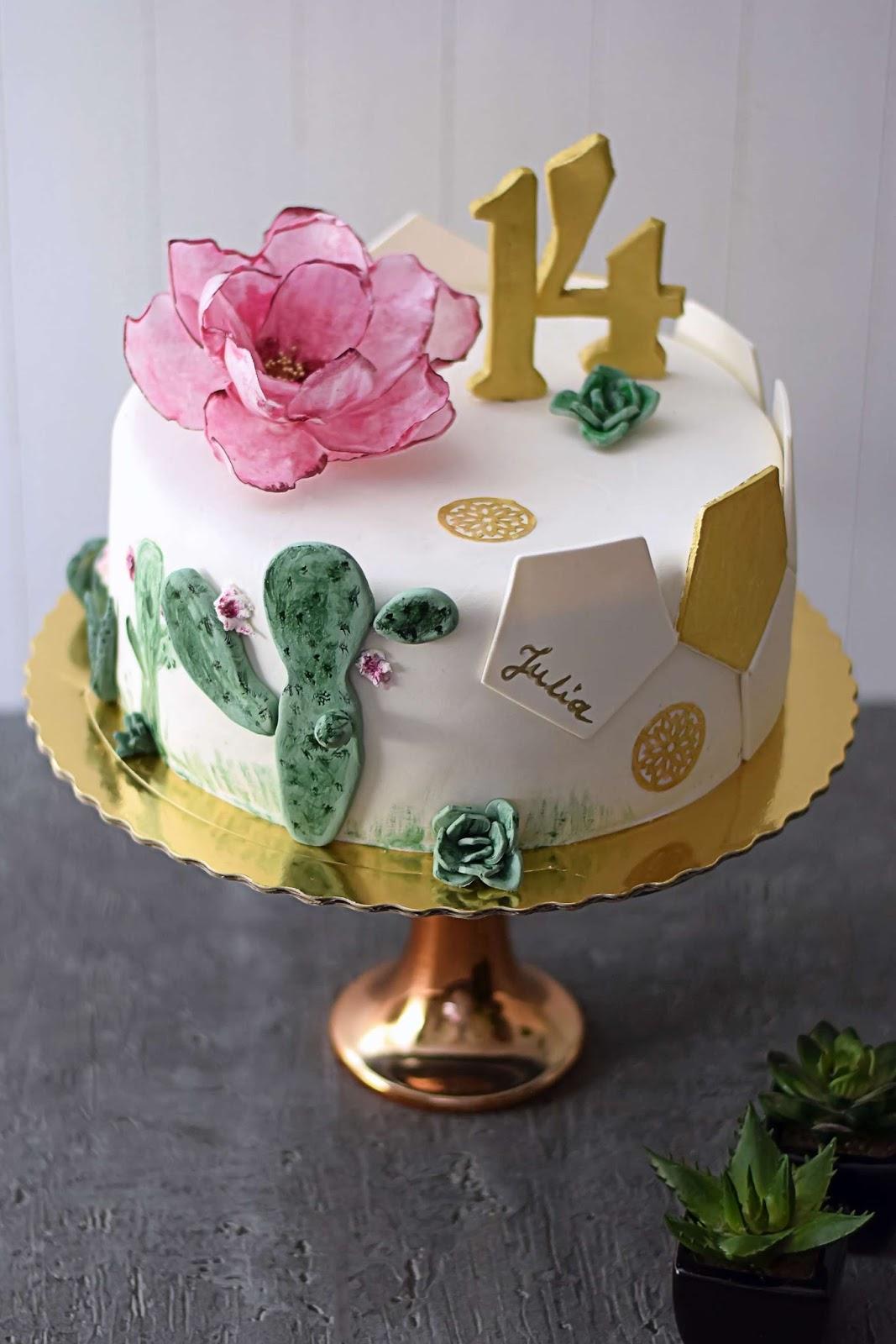Tort Urodzinowy Dla Fanki Piłki Ręcznej Z Sukulentami Kulinaria