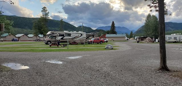RV park at Toad River Lodge Alaska Highway BC