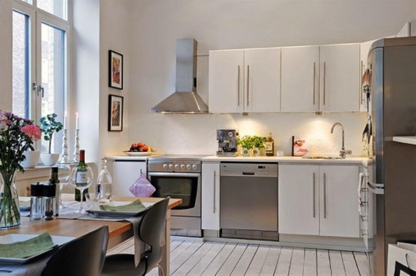 Small Apartment Kitchen Appliances Winda 7 Furniture Black And White Decorating Ideas