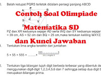 Contoh Soal Olimpiade Matematika SD Lengkap Model Pilihan Ganda, Isian Singkat, Dan Uraian