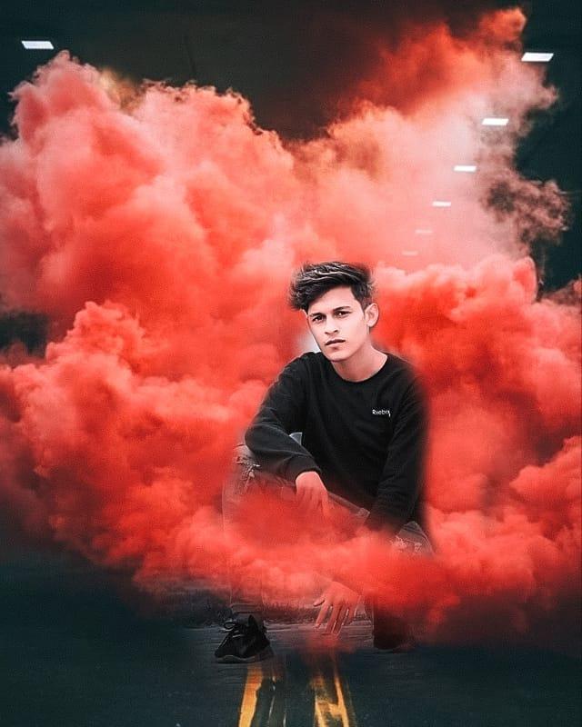 Snapseed Smoke Bomb