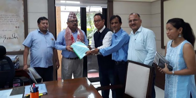 Bharatiya Gorkha Parisangh (BGP) delegation meets Assam chief secretary Alok Kumar at Janata Bhawan