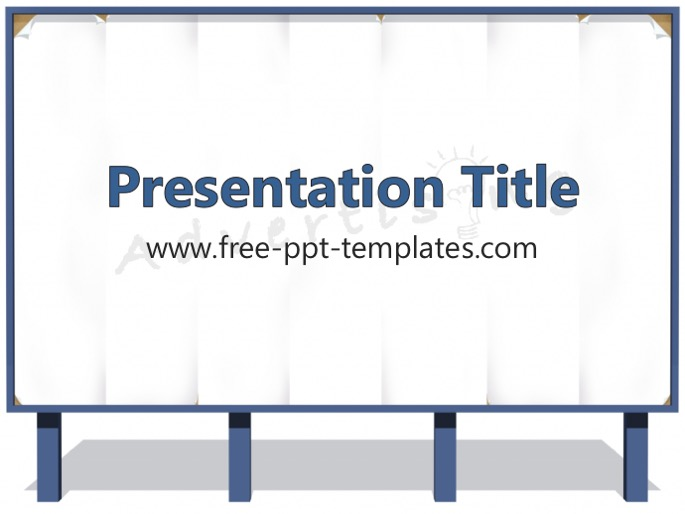 advertising ppt template
