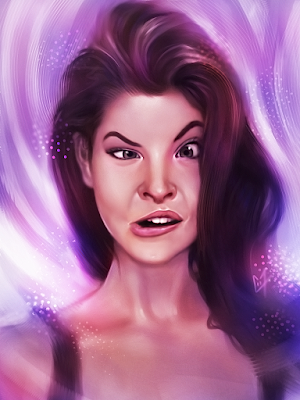 Portrait Digital Amusant d'Amanda Cerny