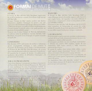 Latteria Sociale Valtorta - Formai de Mut info card - back.
