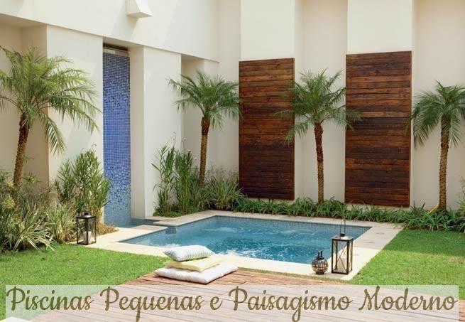 Construindo minha casa clean piscinas pequenas e modernas inspire se - Ver piscinas ...