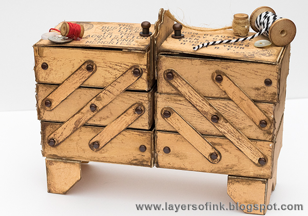 Layers of ink - Vintage Sewing Box Tutorial by Anna-Karin