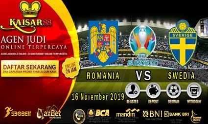 PREDIKSI BOLA TERPERCAYA ROMANIA VS SWEDIA 16 NOVEMBER 2019