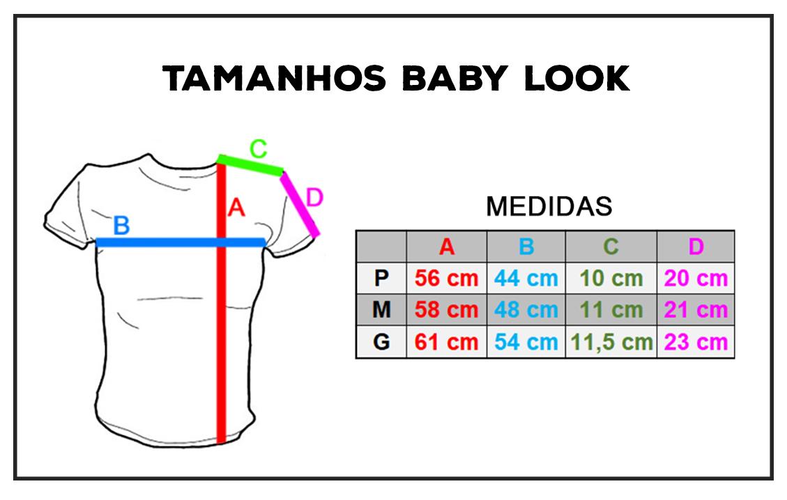 Tamanhos Baby Look