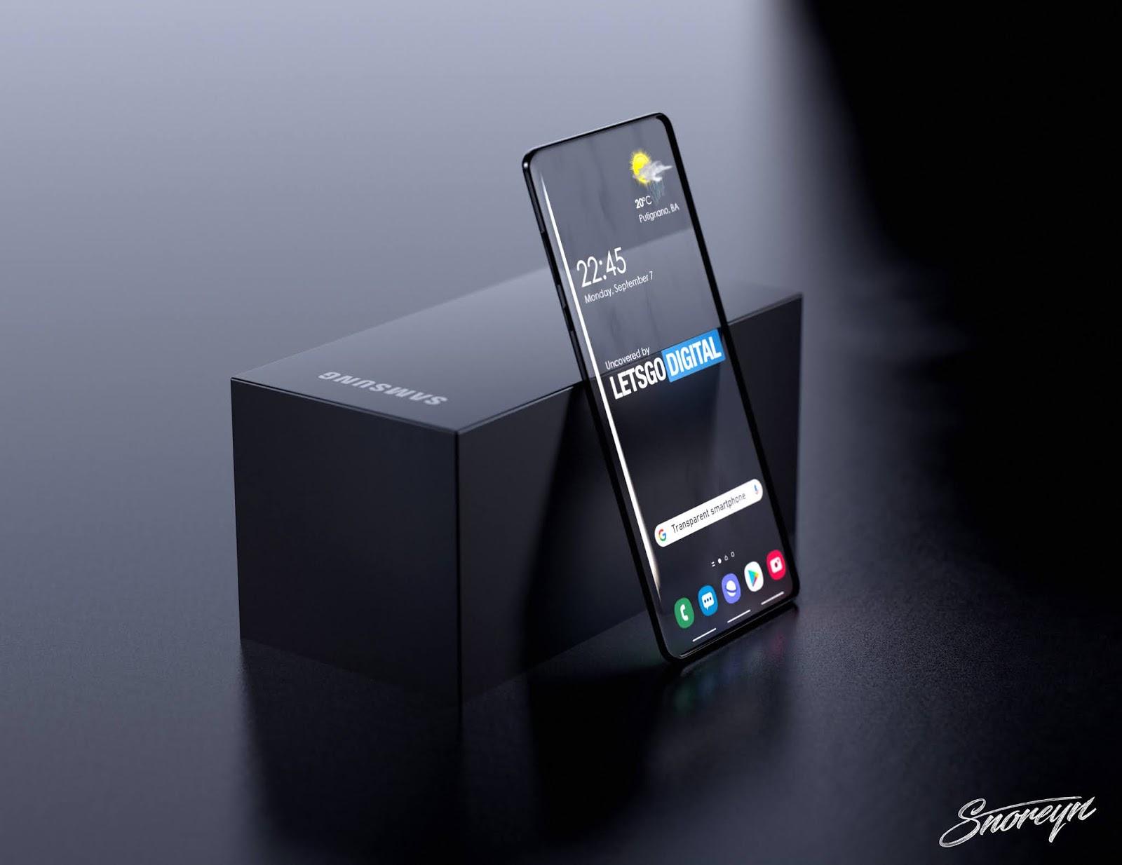 Samsung brevetta un Galaxy con display trasparente