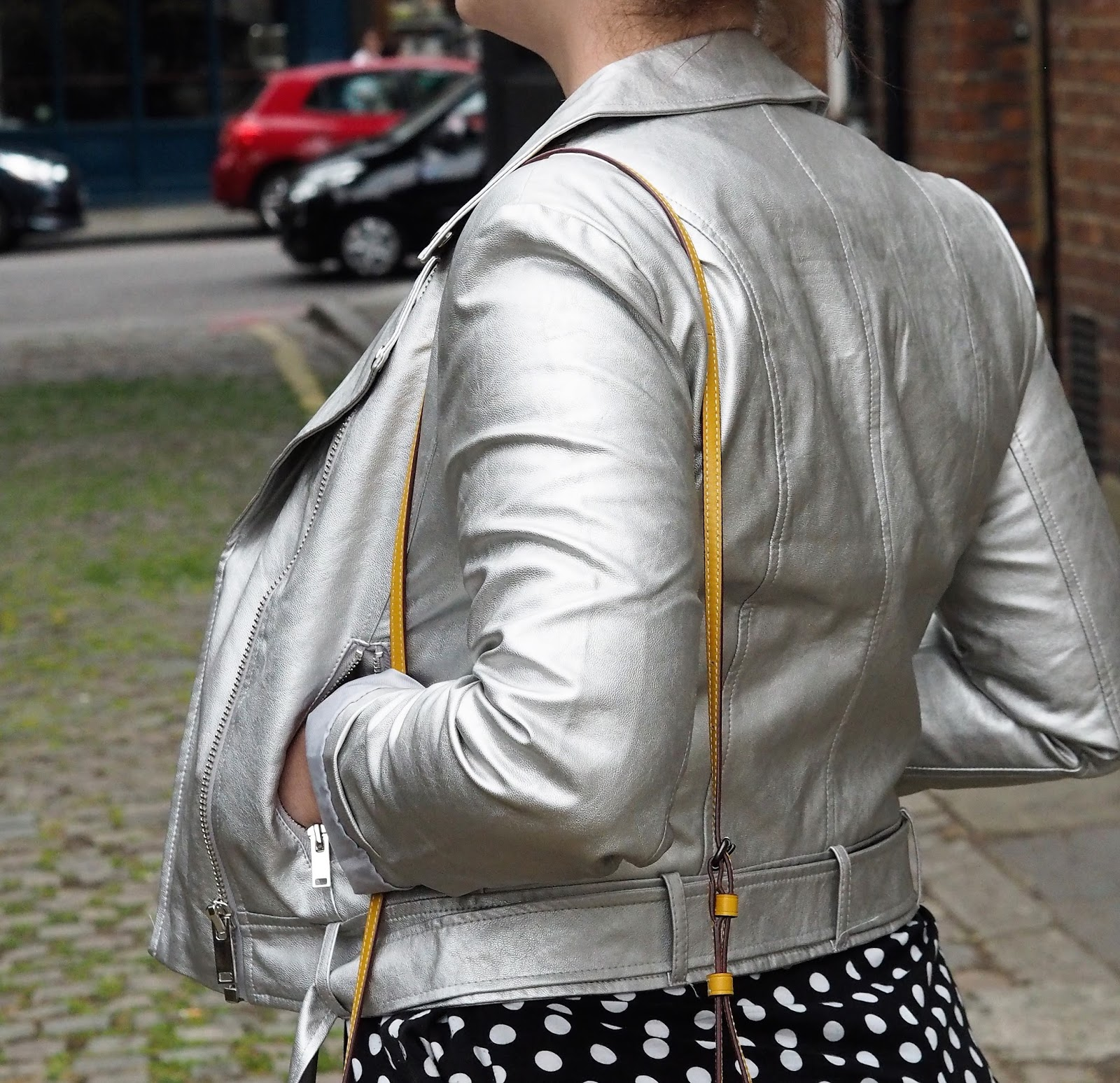 55070ea02 buy and wear a metallic leather jacket and get your friends to take photos  of you in a random north london back alley while onlookers walk past. job  done. ...