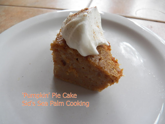 'Pumpkin' Pie Cake