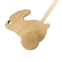 PU07, Push along Rabbit, Lotes Wooden Toys
