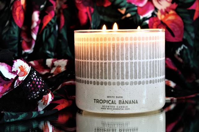 bath body works tropical banana, bath and body works candles, bath & body works tropical banana, bath & body works tropical banana candle review, candle blog, parfum d'ambiance à la banane, banana home fragrance, bougie parfumée banane, parfum exotique