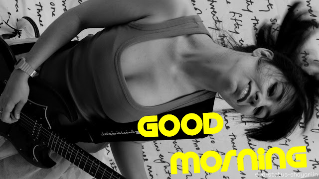 good morning images girl guitar