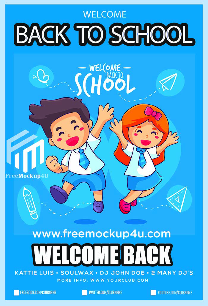 Pngtree: Back To School Flyer Template