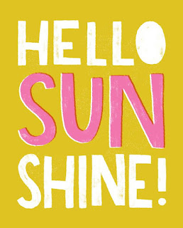 Hello Sunshine Print from Hooray Today