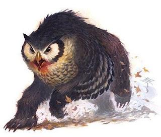 a raging owlbear
