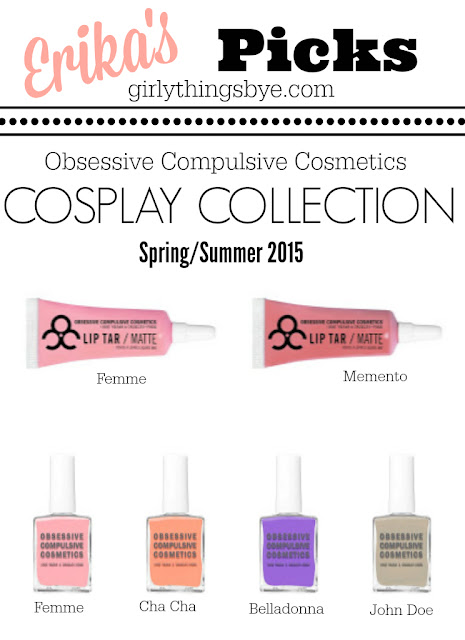 Obsessive Compulsive Cosmetics Cosplay Collection Favorites @girlythingsby_e
