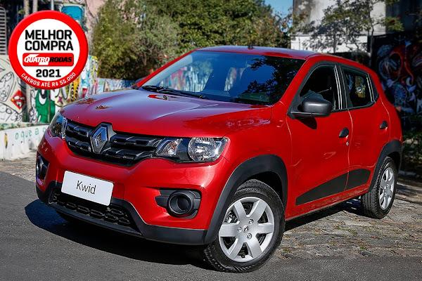 Renault Kwid eleito melhor compra até R$ 55 mil pela Quatro Rodas