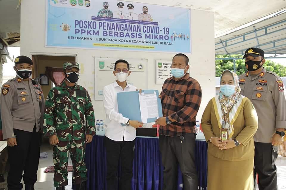 Amsakar Resmikan Posko PPKM Kelurahan se-Kecamatan Lubuk Baja