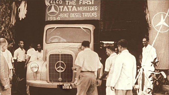 1954- Launch of  First TATA- Mercedes  Benz Diesel Truck by Telco