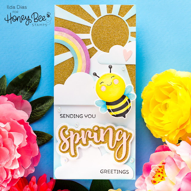 Action Wobble Spring Showers Scene Cards | Honey Bee Stamps