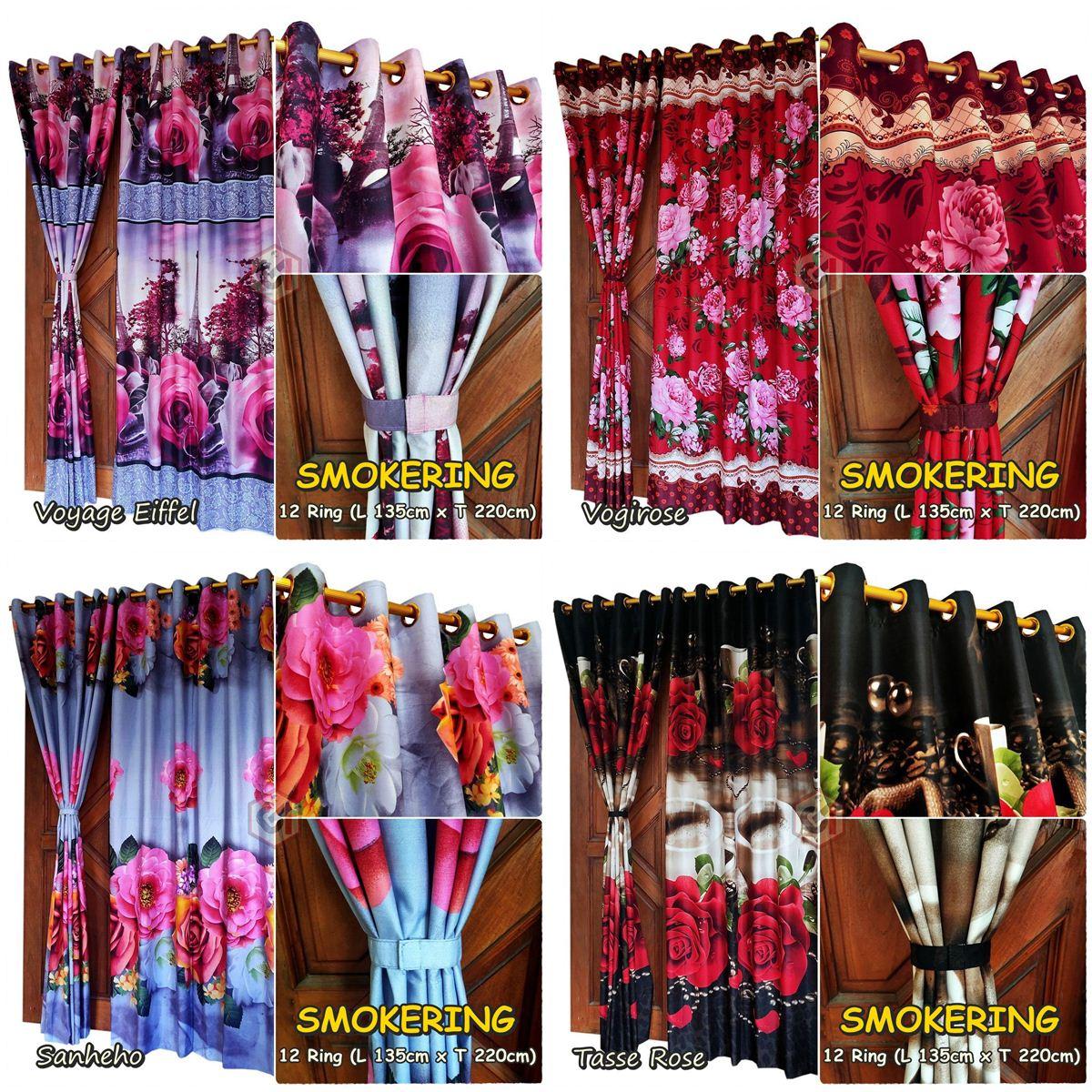 Grosir gorden smokering motif mawar gorden indonesia