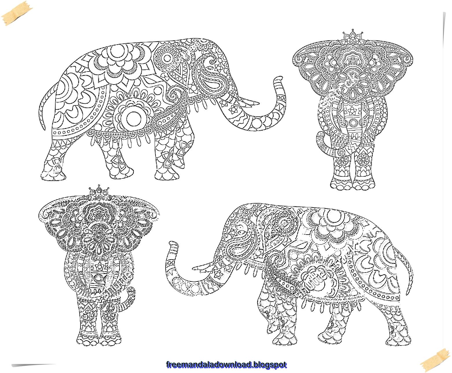 Großzügig Elefanten Mandala Malvorlagen Bilder - Beispiel Business ...