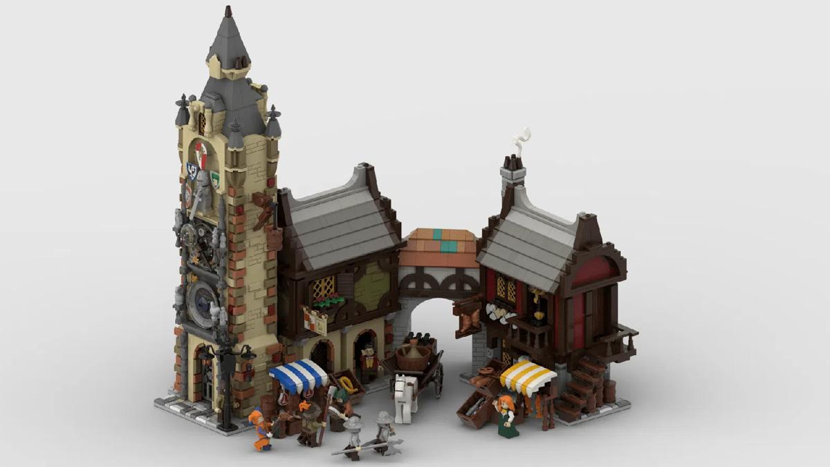 レゴアイデアで『中世のマーケット』が製品化レビュー進出!2021年第1回1万サポート獲得デザイン紹介