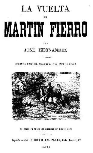 Portada del libro la vuelta de martín fierro epub pdf gratis