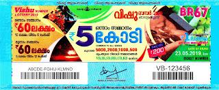 23-05-2019 Vishu Bumper kerala lottery result,kerala lottery result today 23-05-19,Vishu Bumper lottery BR-67,lottery result live