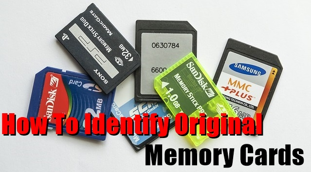 How To Identify Original Memory Cards