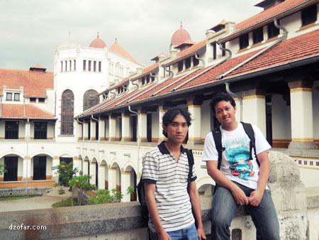 Ndop dan Farid Surya Madjid di Lawang Sewu