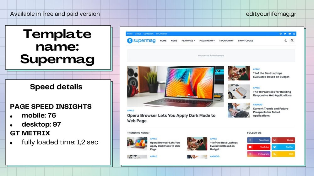 Free and premium blogger templates fast loading 2021