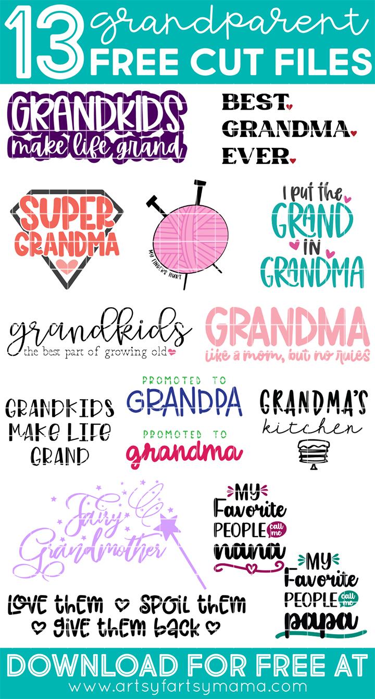 13 Free Grandparent Cut Files