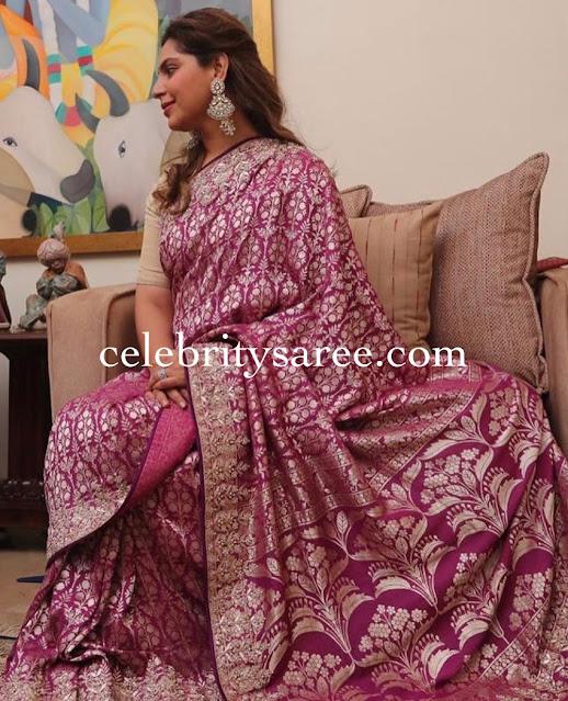 Upasana Kamineni Benaras Silk Saree