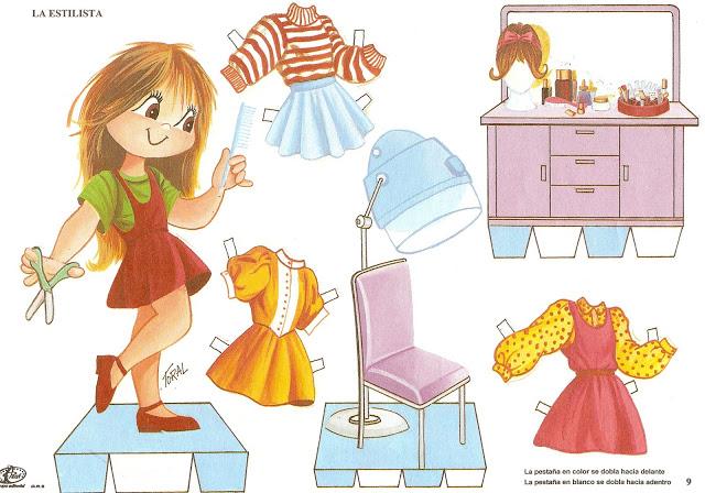 Muñecas De Papel Para Vestir Y Recortar Gratis