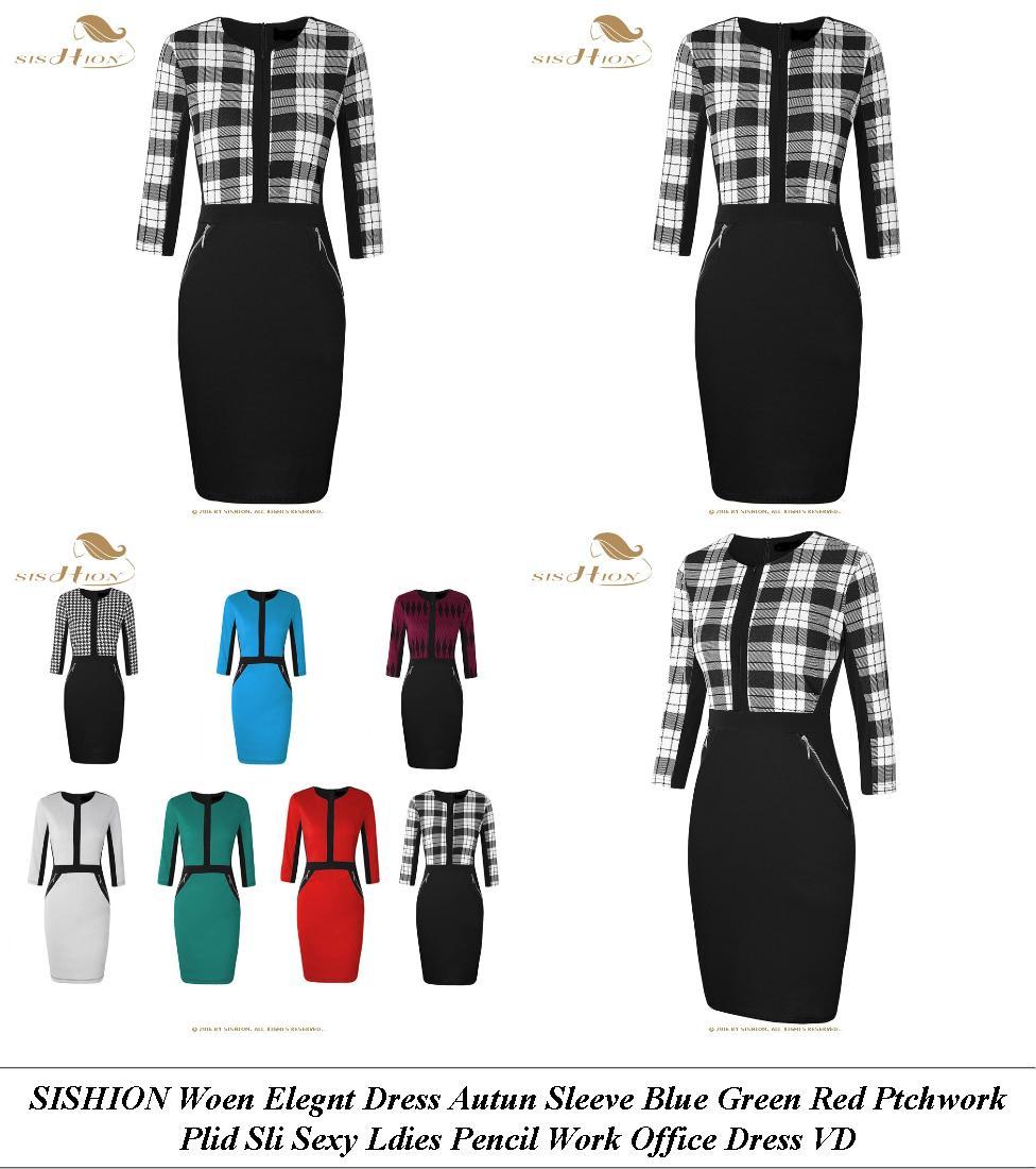 Long Evening Dresses Uk With Sleeves - Est Vintage Inspired Clothing Wesites - Sheath Dress