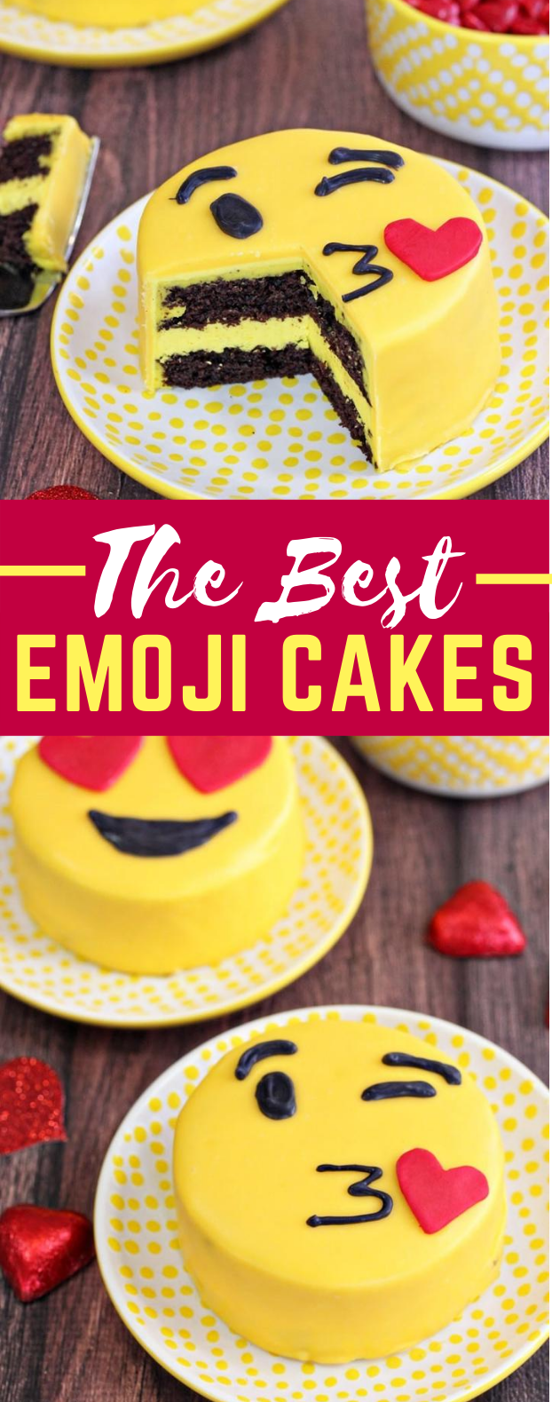 EMOJI CAKES #desserts #sweets #cake #emoticon #gift
