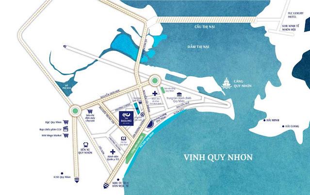 Vị trí Wyndham Sailing Bay Resort Quy Nhơn