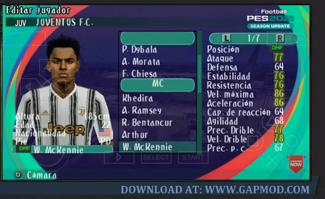 PES 2021 PPSSPP Lite 200MB Android Fix Cursor