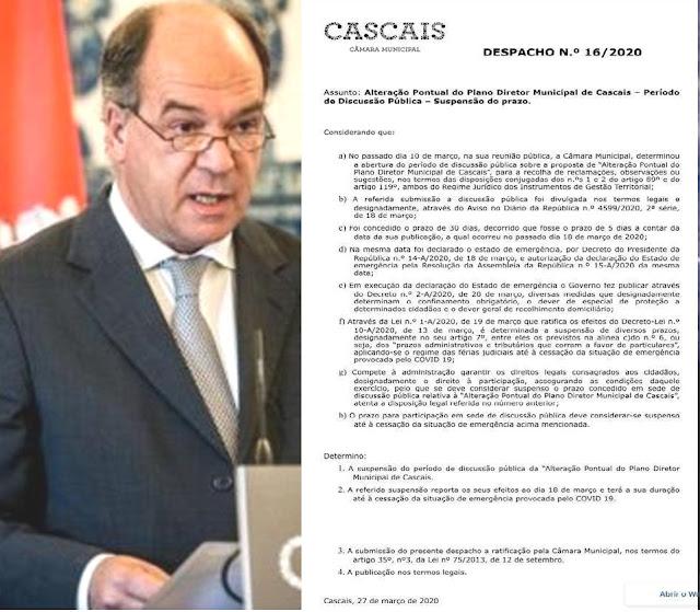 Carlos Carreiras suspende consulta pública a alteração pontual ao PDM depois de indignação nas redes sociais