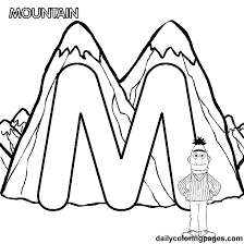 Letter M Coloring Page 12