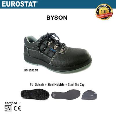 Sepatu Safety Pendek Tali Eurostat Byson