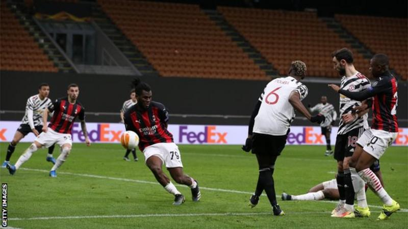 Pogba sends Manchester United into quarter-finals