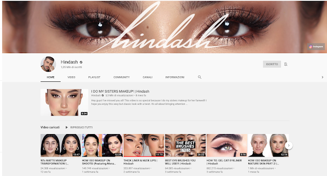 canali makeup beauty youtube preferiti, hindash, mohammed hindash, favourite makeup youtube channels, arab beauty guru