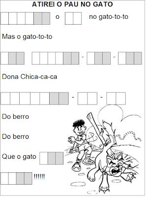 Cantiga ATIREI O PAU NO GATO lacunada