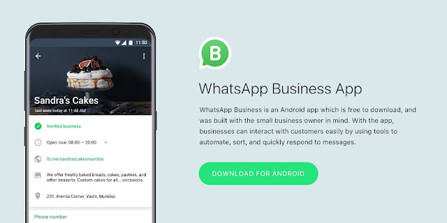 WhatsApp Business, list for Android