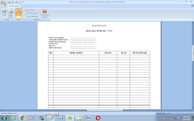 Contoh format rencana kegiatan remedial